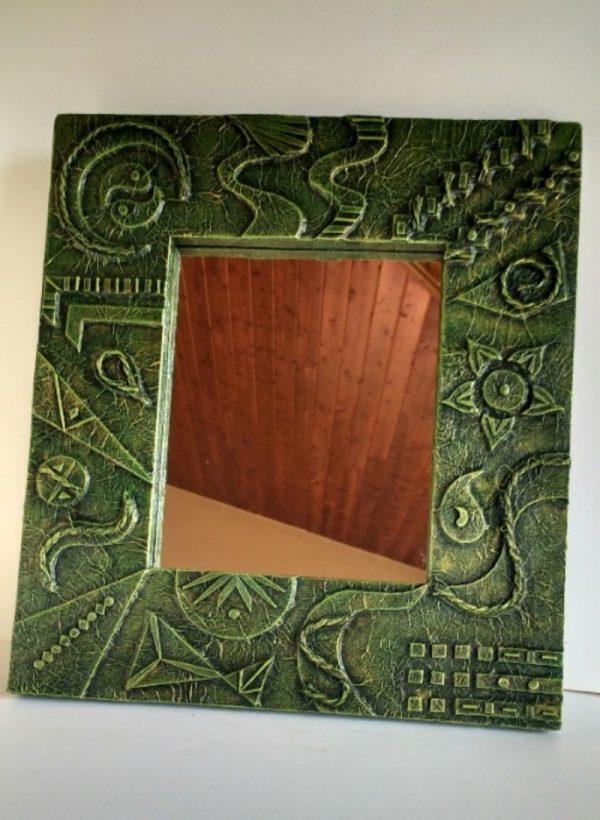 espejo decorado madera reciclada palet