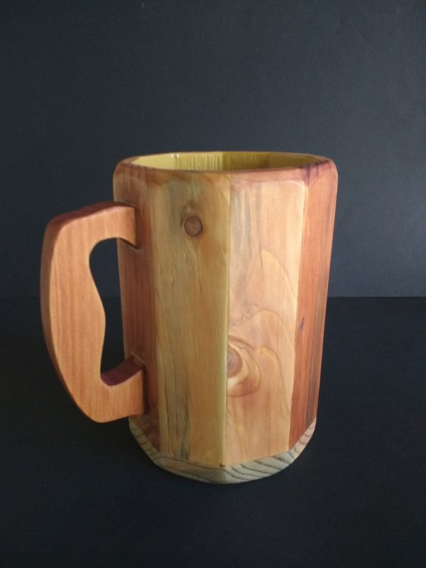 Jarra de madera reciclada de palet
