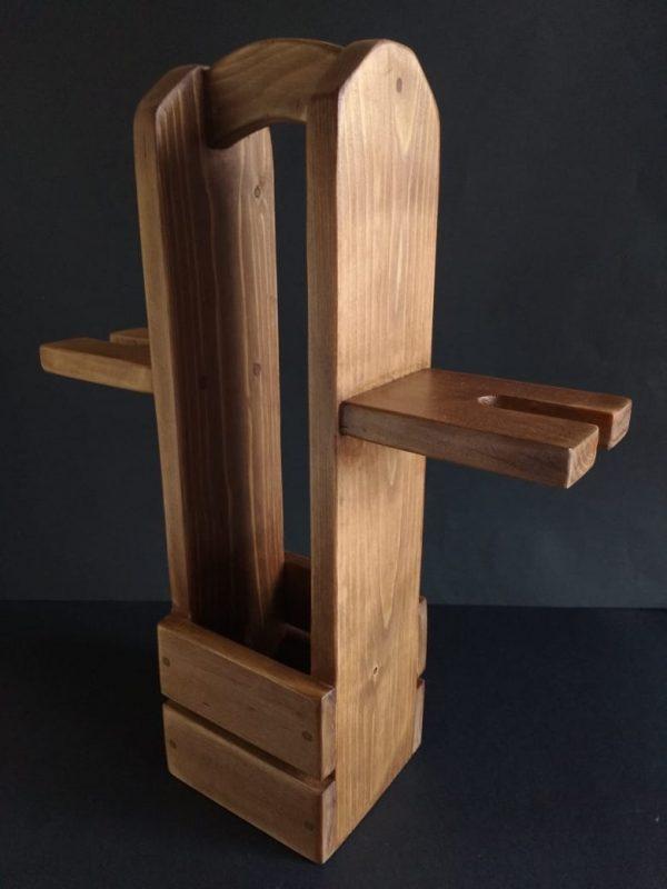 Botellero de madera reciclada de palet