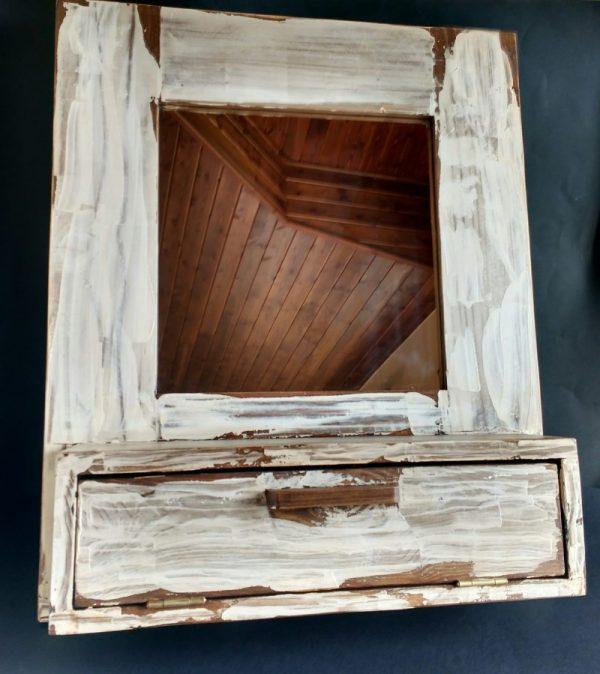 mueble baño vintage de madera reciclada de palet