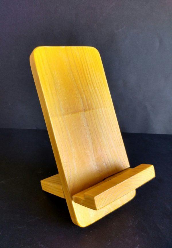 Soporte para móvil de madera reciclada de palet