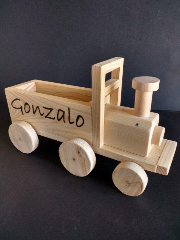 Tren personalizado de madera reciclada de palet