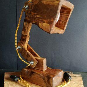 lampara flexo madera reciclada palet